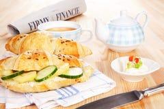 Bedrijfs ontbijt. Royalty-vrije Stock Foto
