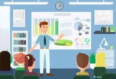Bedrijfs opleidingsconcept Vector illustratie stock illustratie
