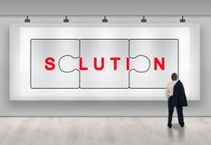 Bedrijfs oplossingenreclame Stock Foto
