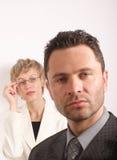 Bedrijfs paarportret stock afbeelding