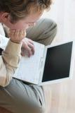 Bedrijfs Pauze en Laptop stock foto