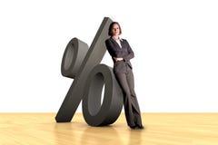 Bedrijfs Percentage Stock Foto