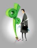 Bedrijfs percentenverhoging stock illustratie