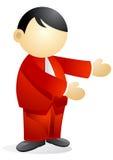 Bedrijfs persoon - presentatie Royalty-vrije Stock Foto