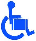 Bedrijfs persoon in rolstoel Royalty-vrije Stock Foto