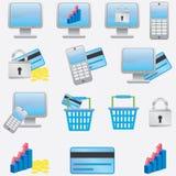 Bedrijfs pictogrammen. Stock Afbeelding