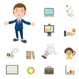 Bedrijfs pictogrammen Stock Foto's