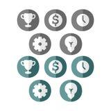 Bedrijfs pictogrammen Stock Illustratie