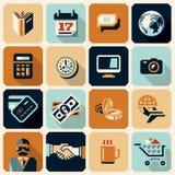 Bedrijfs pictogrammen Geldpictogrammen financiën vector illustratie