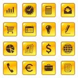 Bedrijfs pictogrammen op Webknopen Royalty-vrije Stock Foto's