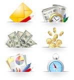 Bedrijfs pictogramreeks Royalty-vrije Stock Afbeeldingen