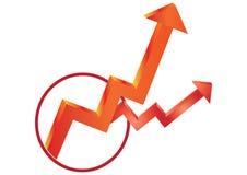Bedrijfs pijlen - vector Stock Fotografie