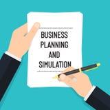 Bedrijfs Planning en Simulatievector Stock Afbeelding