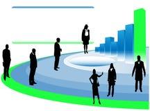 Bedrijfs presentatie, bedrijfsmensen Royalty-vrije Stock Foto's