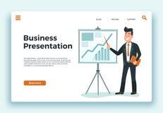 Bedrijfs presentatie E stock illustratie