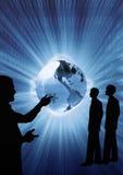 Bedrijfs presentatie voor de nieuwe rekruten, conceptuele illustratie Stock Foto