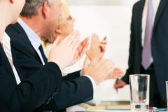 Bedrijfs presentatieapplaus Stock Foto