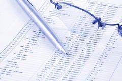 Bedrijfs Rapport Stock Foto's