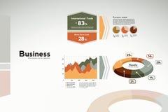 Bedrijfs rapportgrafiek - grafieken en statistieken Stock Foto
