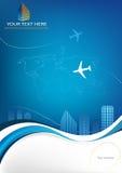Bedrijfs reismalplaatje Stock Afbeeldingen