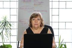 Bedrijfs Rijpe Vrouw Royalty-vrije Stock Afbeeldingen