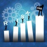 Bedrijfs risico dat tot succes leidt Stock Foto's