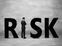 Bedrijfs risicoconcept stock foto's