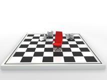 Bedrijfs schaakmatpartner Stock Fotografie