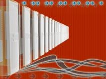 Bedrijfs serveraansluting Stock Afbeelding