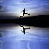 Bedrijfs silhouet Stock Foto's
