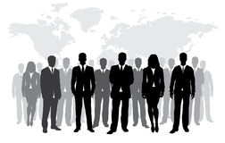 Bedrijfs silhouet Royalty-vrije Stock Afbeelding