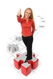 Bedrijfs solition en succes Stock Afbeelding