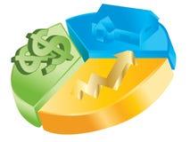 Bedrijfs statistieken royalty-vrije illustratie