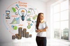 Bedrijfs strategieconcept Stock Foto's