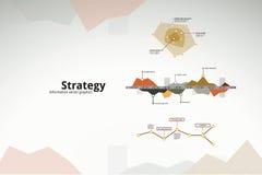 Bedrijfs strategieinfographics Stock Afbeeldingen