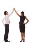 Bedrijfs succes en groepswerk stock afbeeldingen