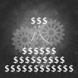 Bedrijfs succes en het beheersproces Stock Afbeeldingen