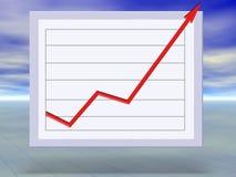 Bedrijfs succes en het concept van de de groeigrafiek Stock Foto