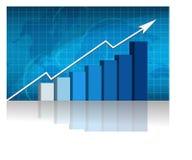 Bedrijfs succes - grafiek Stock Fotografie