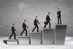 Bedrijfs succes van een bedrijfsmens Stock Foto