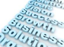 Bedrijfs succes verwante woorden Stock Fotografie