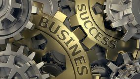 Bedrijfs succesconcept Gouden en zilveren toestel weel illustratie als achtergrond 3D Illustratie royalty-vrije illustratie