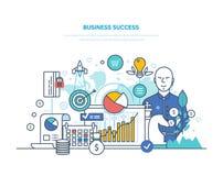 Bedrijfs succesconcept Voltooiings grote winst, hoge doelstellingen, financieel welzijn vector illustratie