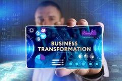 Bedrijfs, Technologie, van Internet en van het netwerk concept Jonge busine stock fotografie