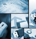 Bedrijfs/technologiecollage Stock Afbeelding