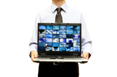 Bedrijfs technologiepresentatie Royalty-vrije Stock Foto's