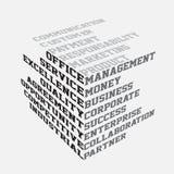 Bedrijfs termen typografie Stock Fotografie