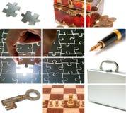 Bedrijfs themasamenstelling Stock Afbeeldingen