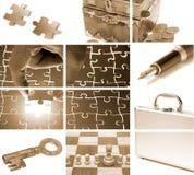 Bedrijfs themasamenstelling Stock Foto's