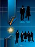 Bedrijfs toekomstig blauw royalty-vrije illustratie